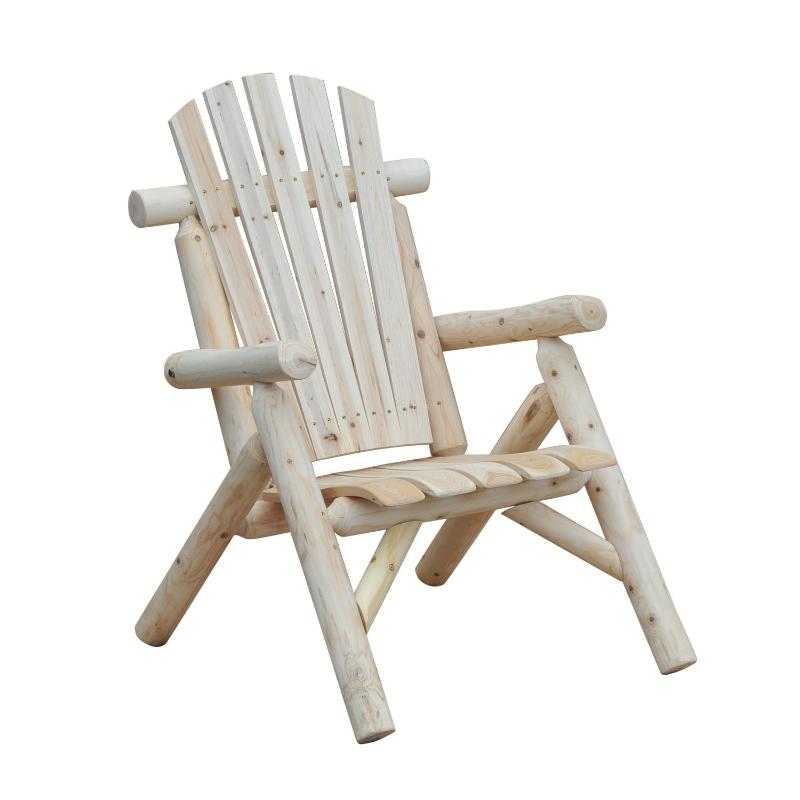 Tuinstoel tuinzetel houten stoel hoge rug met armleuningen vurenhout natuur