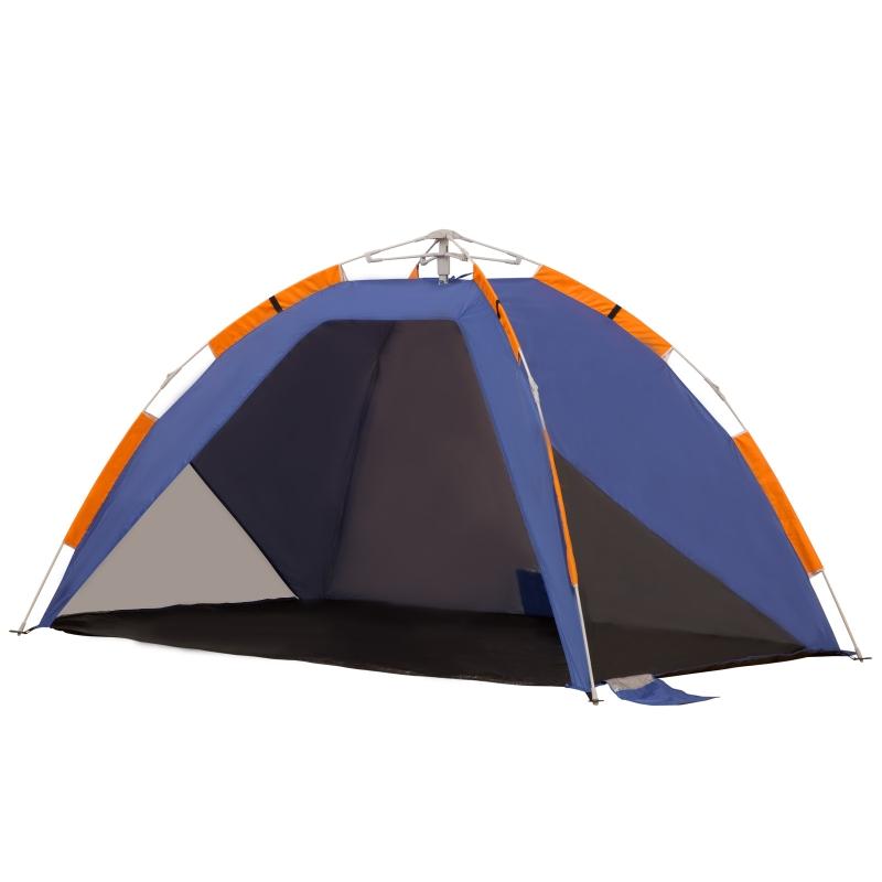 Strandschelp strandtent pop-up camping tent draagtas 2-3 personen glasvezel