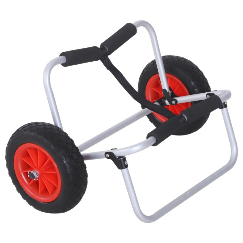 Kajaktrolley kanotrolley surftrolley opvouwbare boottrolley met riem luchtbanden tot 90 kg