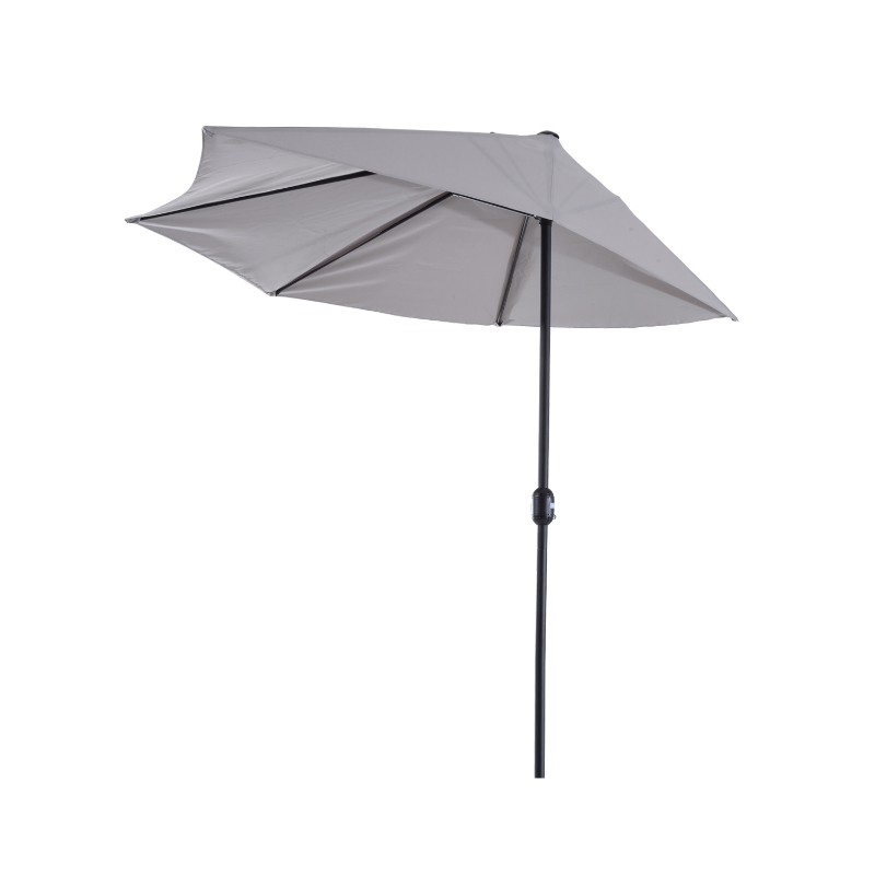 Aluminium parasol tuinparasol zwengel parasol parasol marktparasol halfrond 2 kleuren