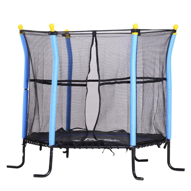 Trampoline kinderen tuintrampoline veiligheidsnet randafdekking Ø161 cm tot 60 kg