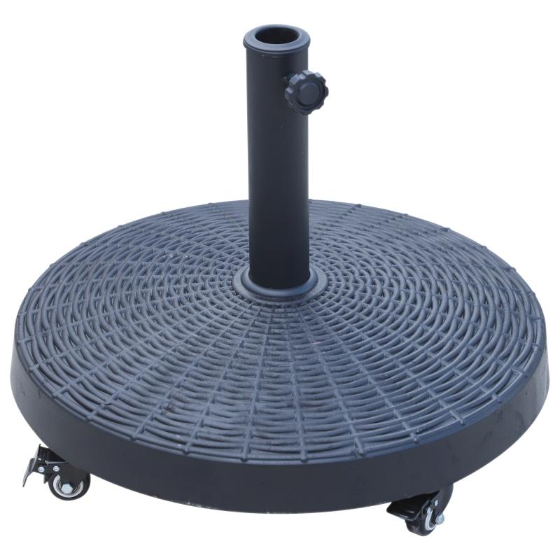 Zonneschermstandaard zonneschermvoet parasolvoet kunsthars voor parasol Ø 38/ 48 mm