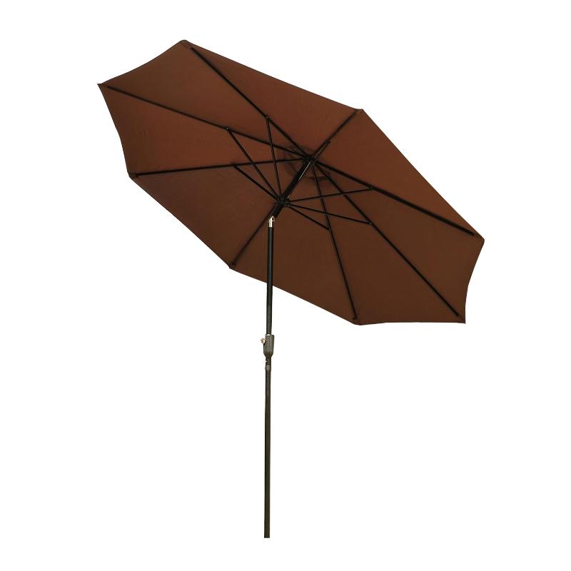Parasol knikscherm tuinscherm strandscherm met stalen handslinger Ø 3 m