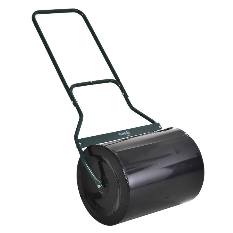 Gazonwals met U-handgreep tuinwals tuinroller vulling 60 l water/zand metaal