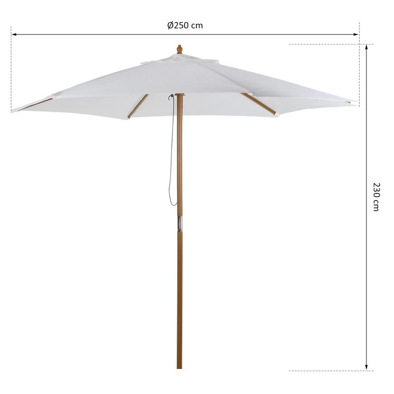 Zonnescherm tuinscherm zonwering 3-delig bamboe 180/㎡ polyester crème