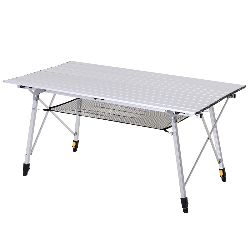 Picknick klaptafel campingtafel klaptafel in hoogte verstelbaar draagtas alu