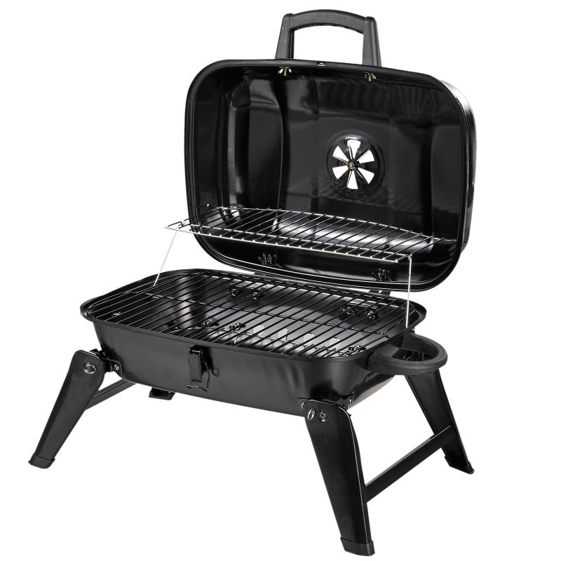 houtskoolgrill tafelgrill inklapbare grill draagbare picknickgrill tuin metaal