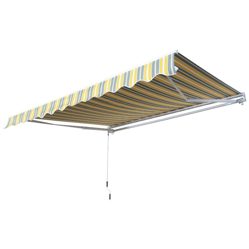 Luifel handslinger knikarmluifel zonwering balkon aluminium 2,95 x 2,5 m 2 kleuren