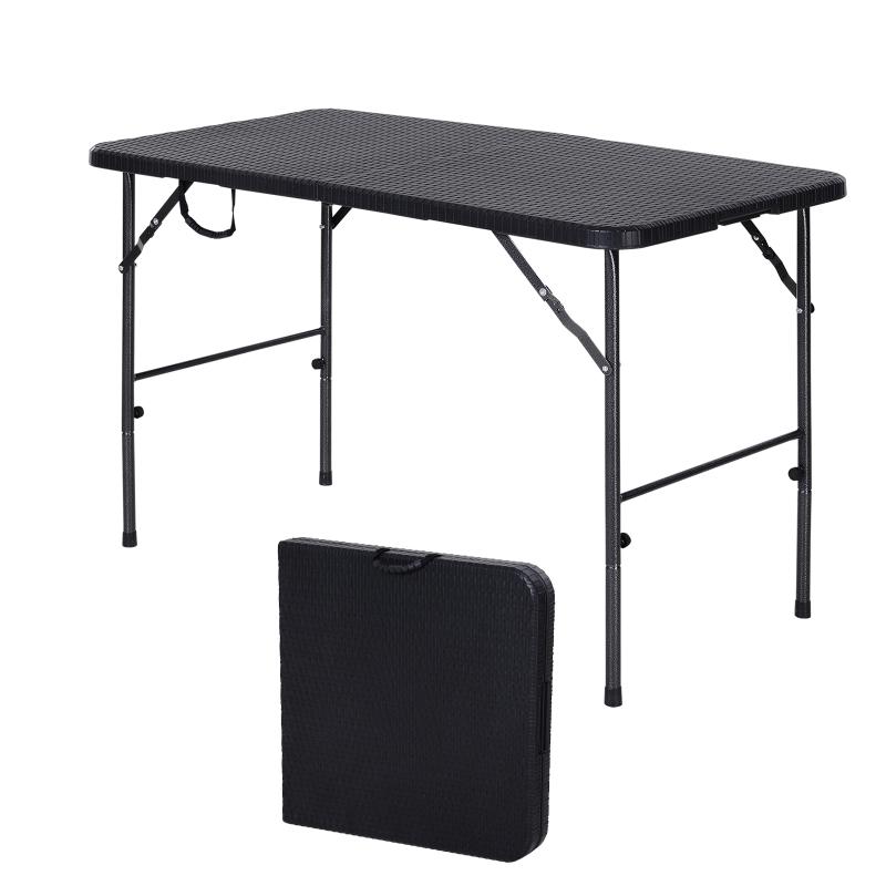 Klaptafel kampeertafel klaptafel picknicktafel opvouwbaar draagbaar metaal zwart