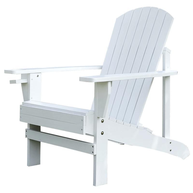 Adirondack tuinstoel ligbank voor buiten tuinmeubel balkonstoel massief hout wit