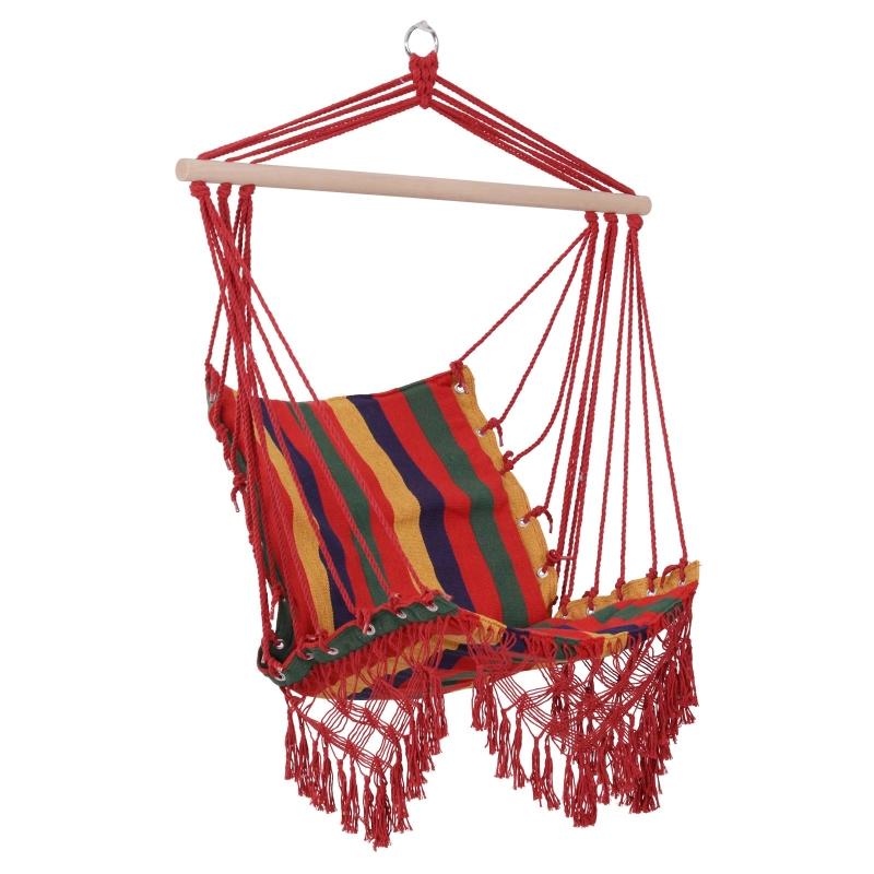 Hangstoel zwevende stoel hangmat stoel gestoffeerde stoel buiten 100 x 60 cm tot 120 kg