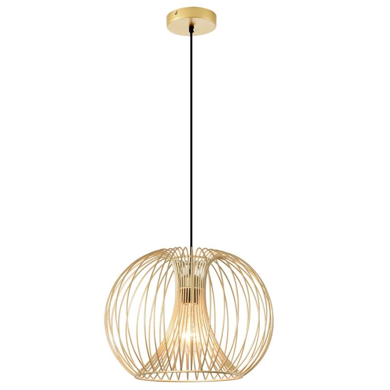 hanglamp plafondlamp moderne hanglamp E27 40W staal goud Ø37 x 150h cm