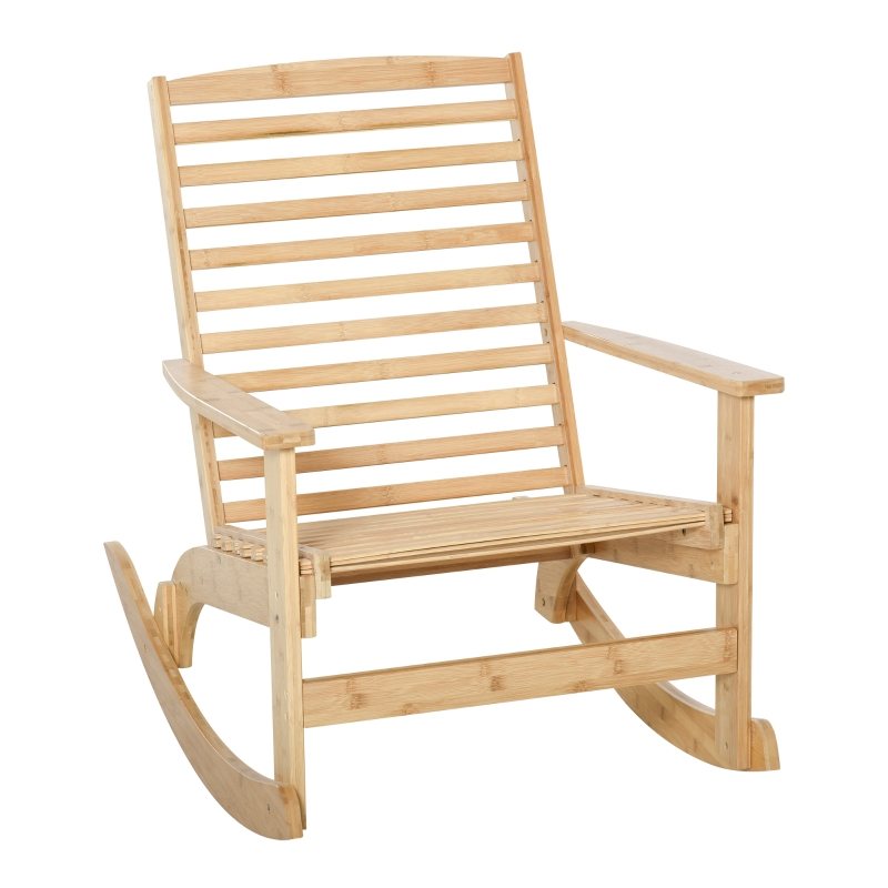 Tuin schommelstoel, relaxstoel, tuinstoel, bamboe multiplex naturel
