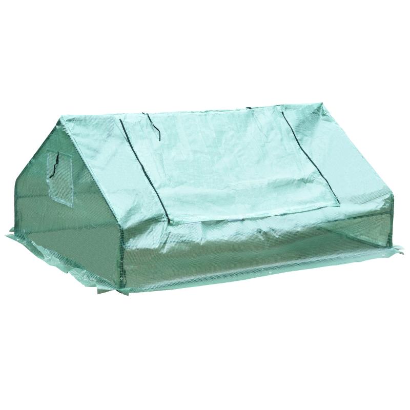 Kas kweekkas met 2 deuren plantenteelt UV-bescherming staal PE