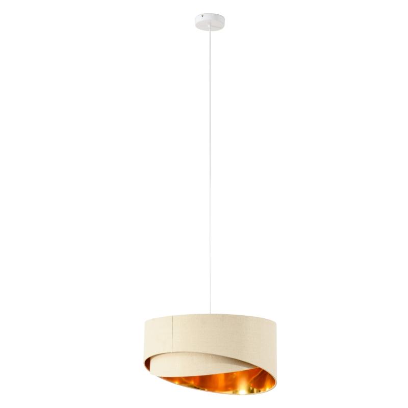 Plafondlamp kroonluchter met twee afgeschuinde lampenkappen plafondlamp