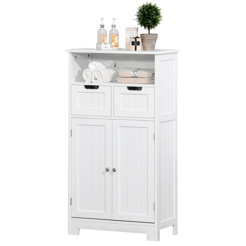 Badkamermeubel badkamerkast met 2 lades 1 deurkast wit