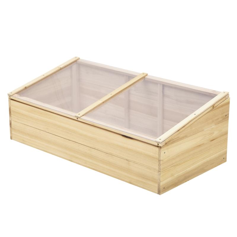 Kas hout koude kas koude box kweekkas plantenbak voor balkon