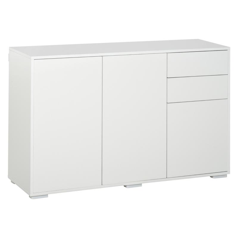 Dressoir keukenkast 2 lades 3 deuren woonkamer badkamer wit