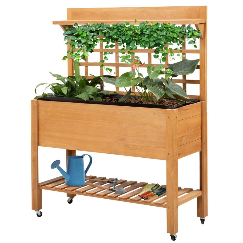 Verhoogd plantenbed plantentafel bloementafel tuintafel kas balkon tuin