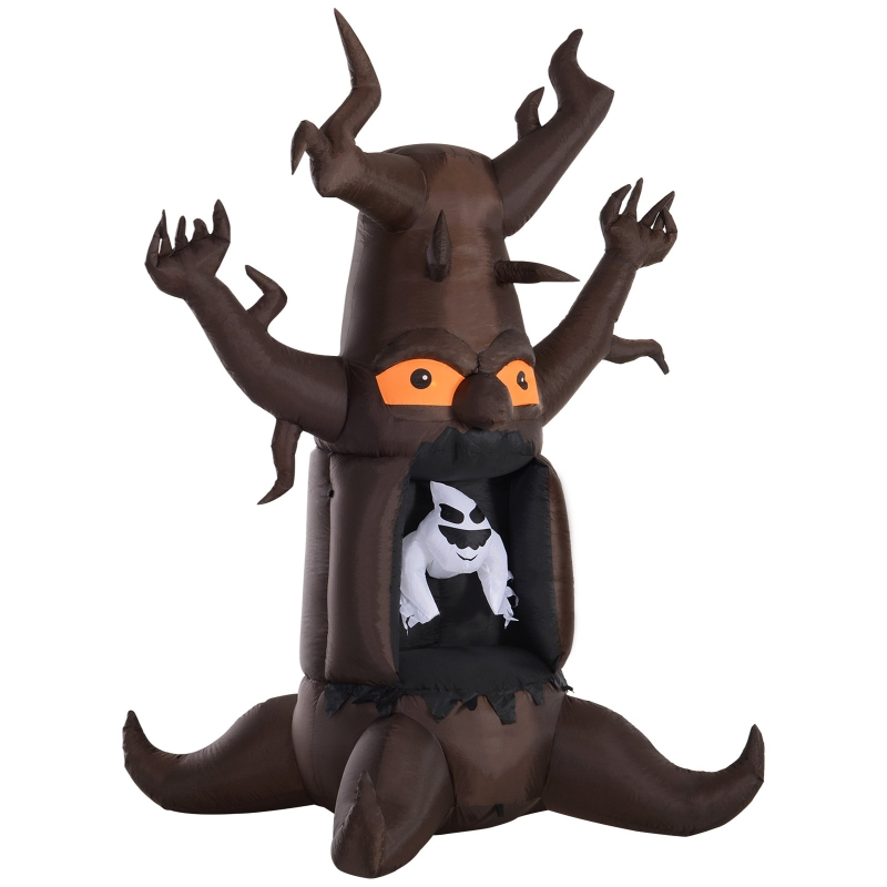 HOMCOM Inflatable Halloween Floating Ghost Tree with LED Light Outdoor Decoration 8FT 2.4m