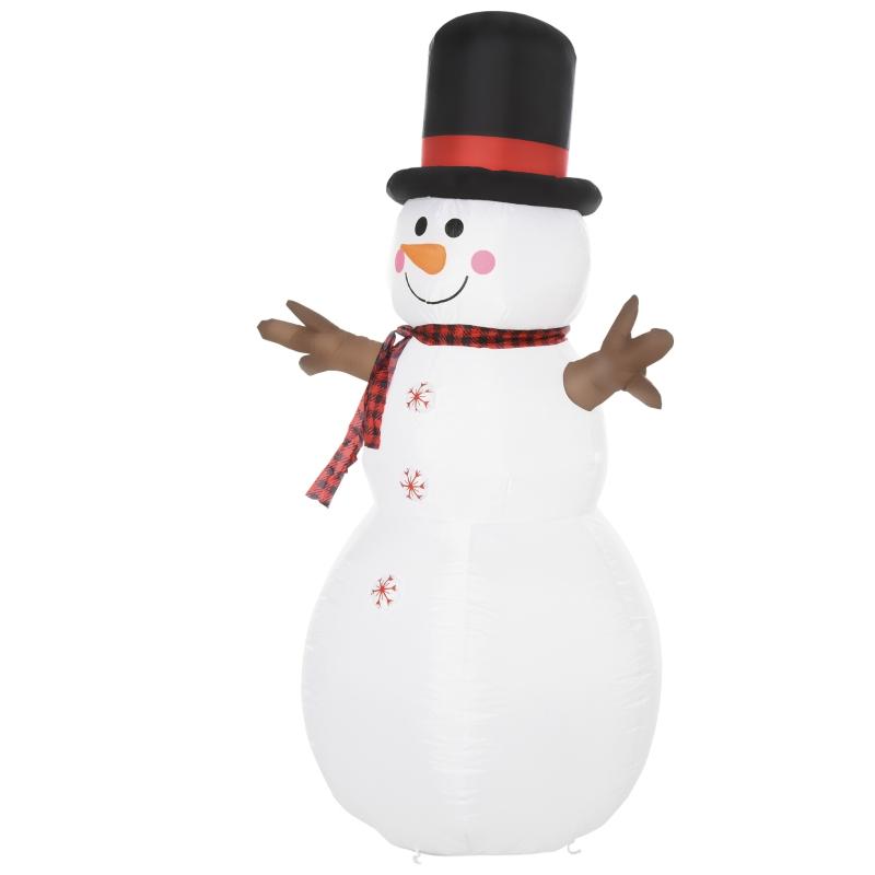 HOMCOM 1.8m LED Polyester Outdoor Christmas Inflatable Snow Man