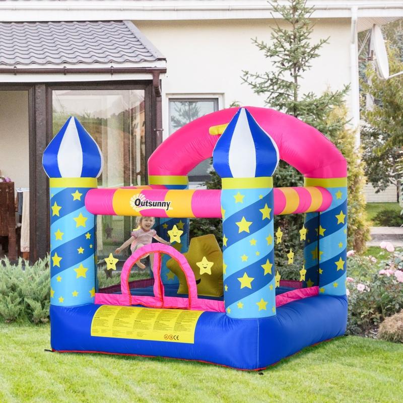 Outsunny Bounce Castle Inflatable Trampoline Octopus Design L200*W200*H210CM