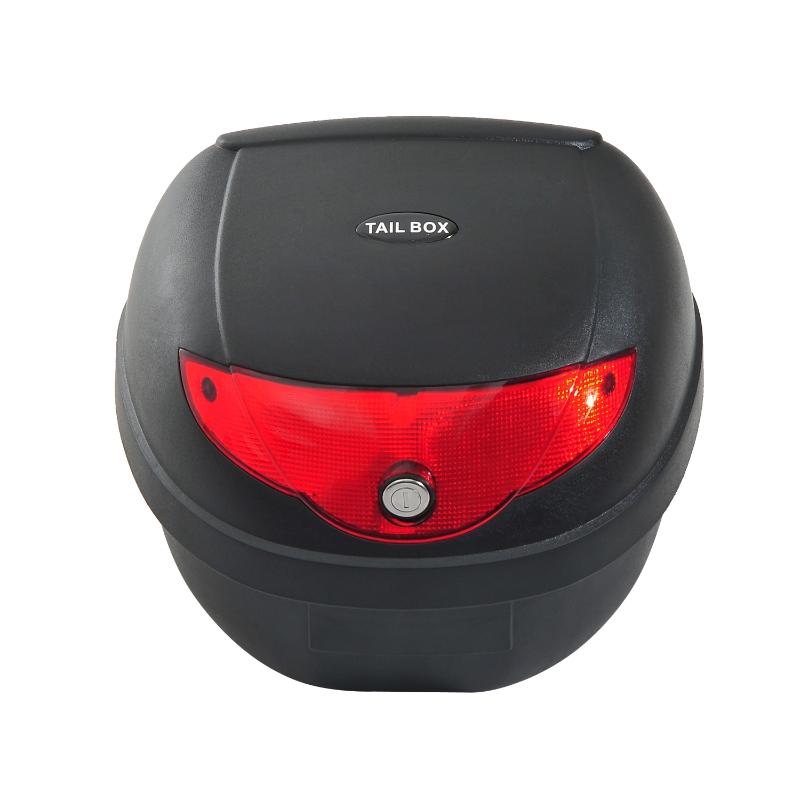 HOMCOM 24 L Motorcycle Luggage Case W/Reflectors-Black/Red