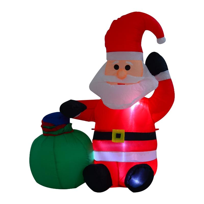 HOMCOM Inflatable Blow up Christmas Santa Claus 120cm LED