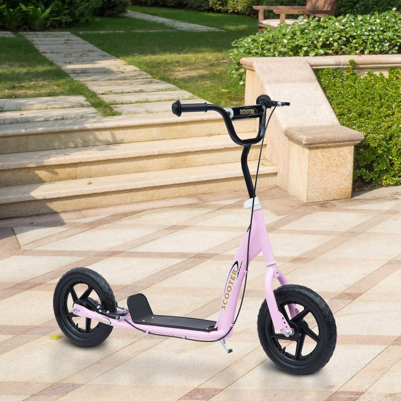 "HOMCOM 12"" Tyres Scooter-Pink"
