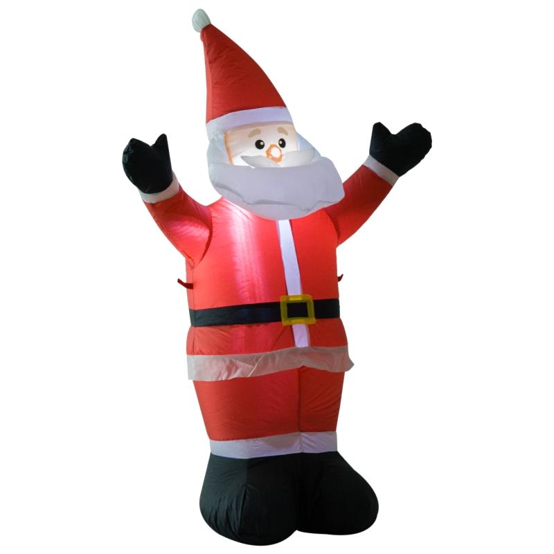 HOMCOM Inflatable 1.2m Santa Claus