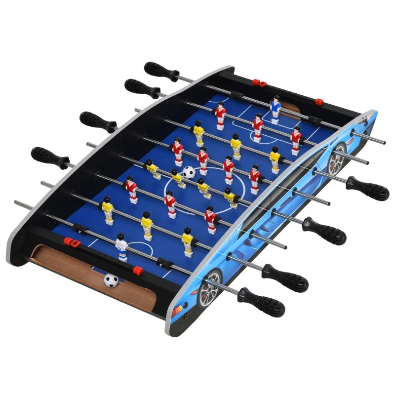 HOMCOM 2ft Indoor MDF Football Table-Top Blue