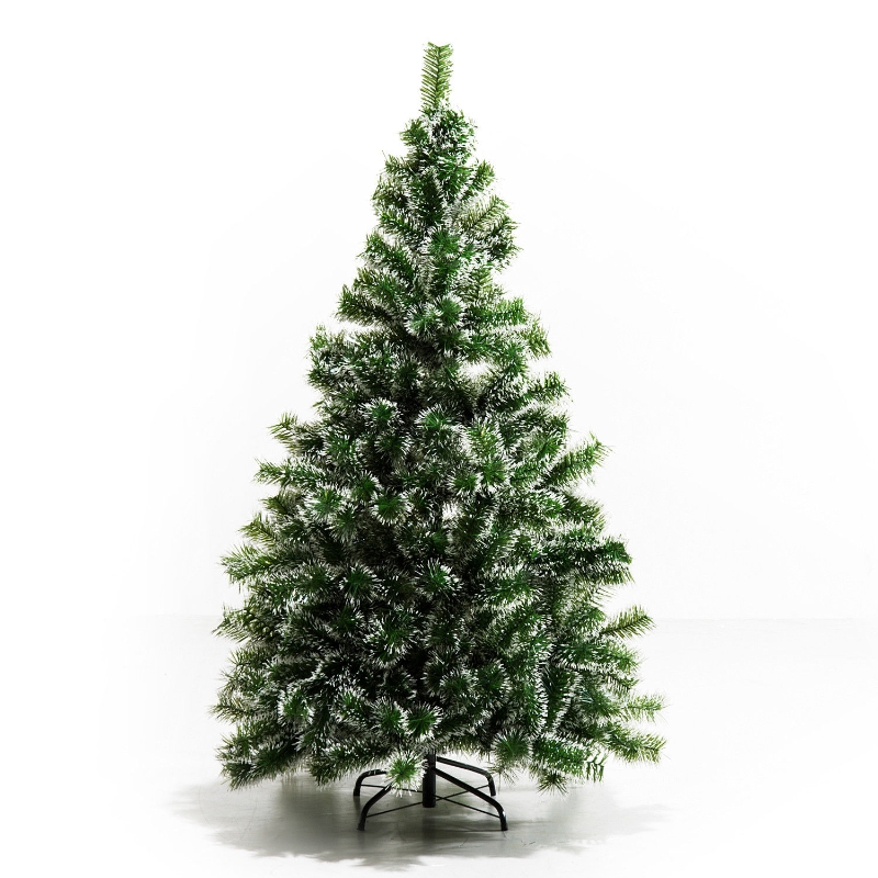 HOMCOM Artificial Christmas Tree Indoor Christmas Tree Artificial Decoration Xmas Gift with Metal Stand 416 Tips 1.5M - Green