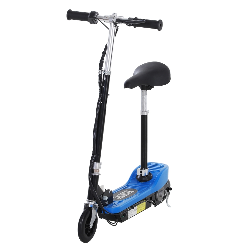 HOMCOM Electric Ride on Scooter, 120W-Blue