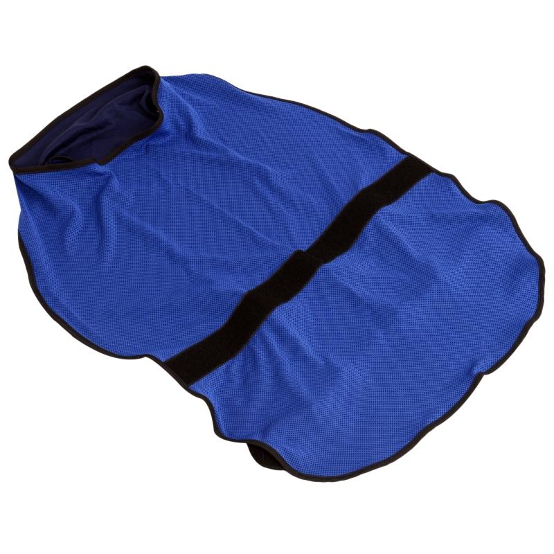 PawHut Dog Cooling Coat, Adjustable Size, Back Length 50 cm, Polyester-Blue