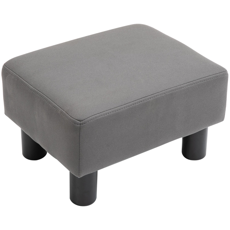 HOMCOM Ottoman Footrest Seat Footstool Chair Luxury Small Grey Home Office