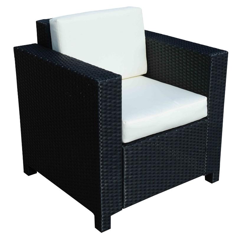 Outsunny Rattan Single Sofa Chair-Black