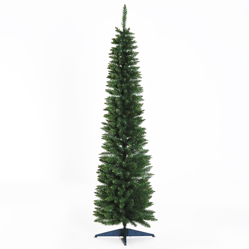 HOMCOM 1.8m Christmas Tree Easy Assembly Artificial Pine Tree Tall Holiday Décor W/ Stand