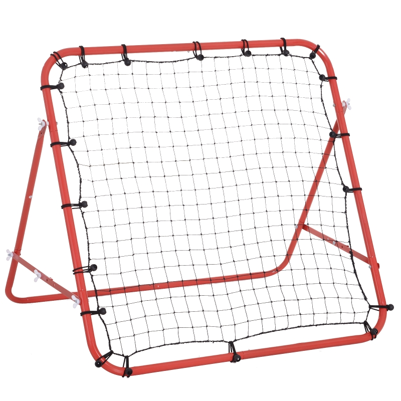 HOMCOM Rebounder Net W/PE mesh metal tube, 96W x 80D x 96Hcm- Red and Black