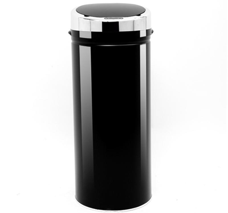 HOMCOM 42L Stainless Steel Sensor Trash Can W/ Bucket-Black