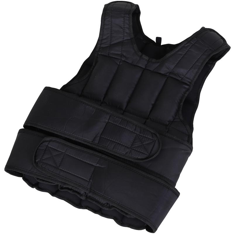 HOMCOM 20kg Adjustable Metal Sand Weight Vest Black