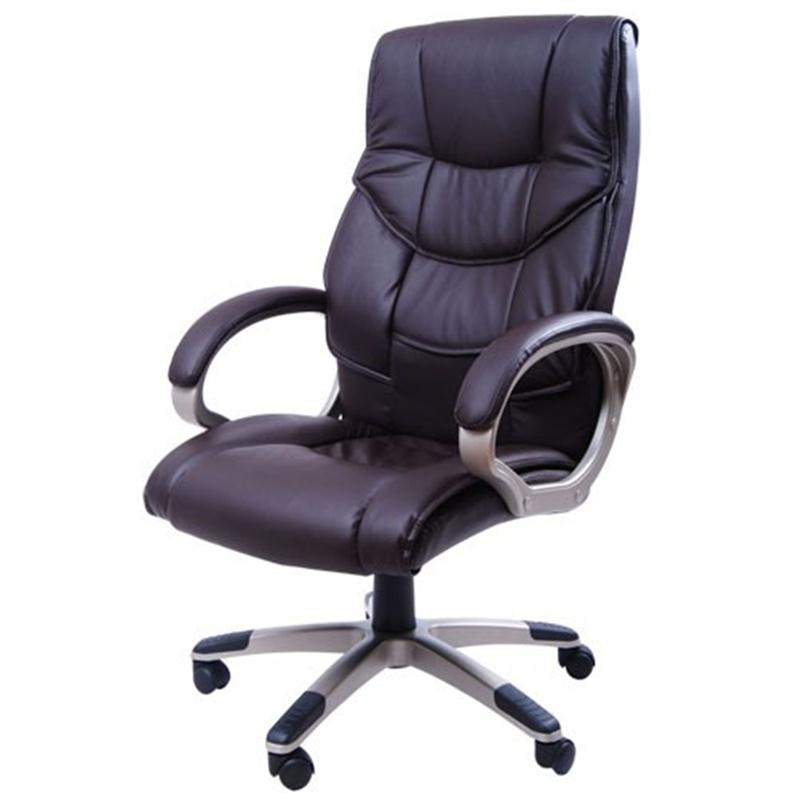 HOMCOM PU Leather Ergonomic Executive Office Desk Chair Brown