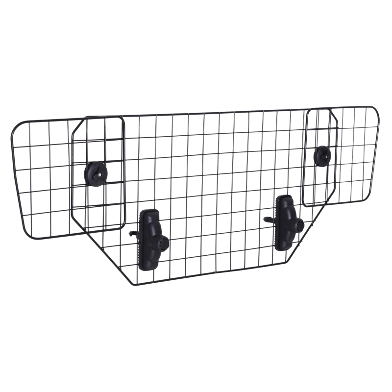 PawHut Pet Dog Car Barrier Heavy Duty Adjustable Mesh Wire Guard Auto Vehicle Protector