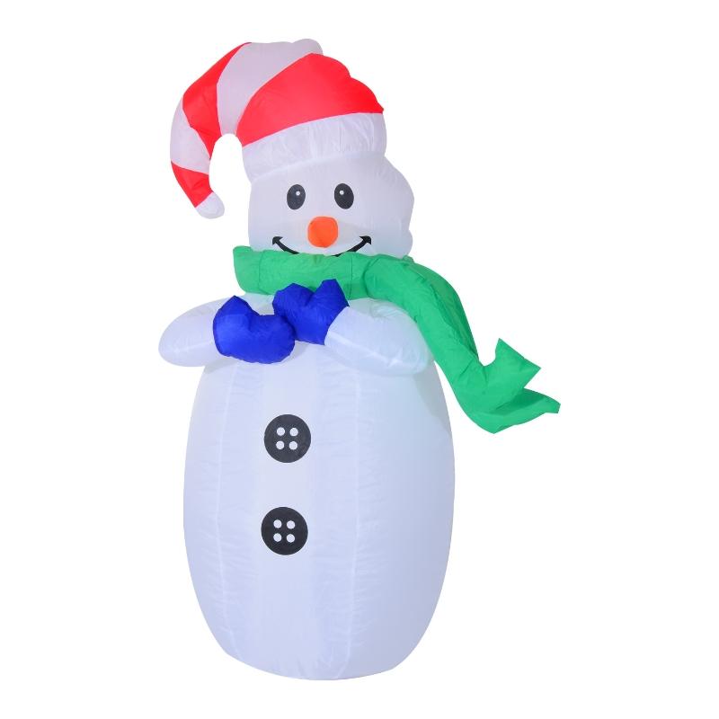 HOMCOM Inflatable Christmas Snowman 120 cm W/LED Lights