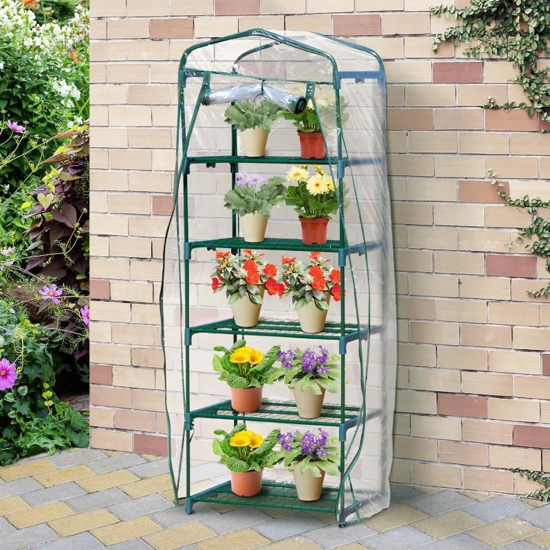 Outsunny 5-tier mini Greenhouse Portable