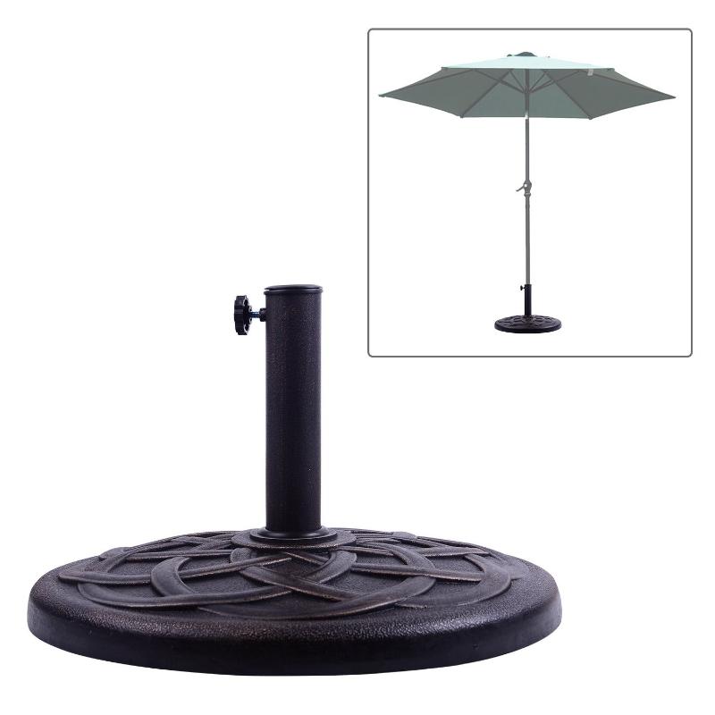 Outsunny Umbrella Base for Φ38mm and Φ48mm Poles, Resin-Bronze
