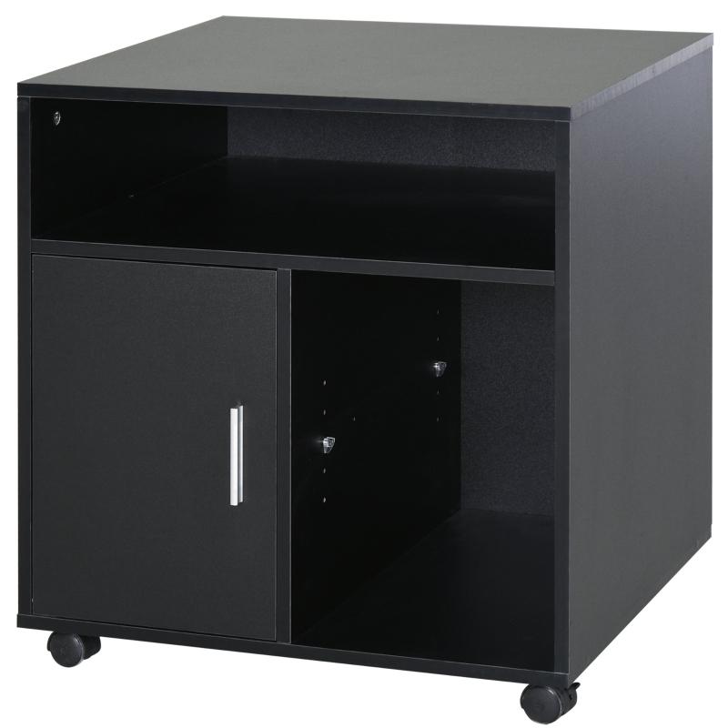HOMCOM Particle Board 4-Compartment Storage Unit Black
