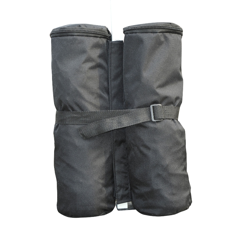 Outsunny 4 Pc Gazebo Sand Bag Weight Set-Black