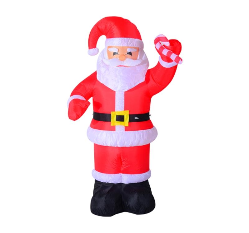 HOMCOM Inflatable Air Blown Christmas Santa Claus 240cm W/LED