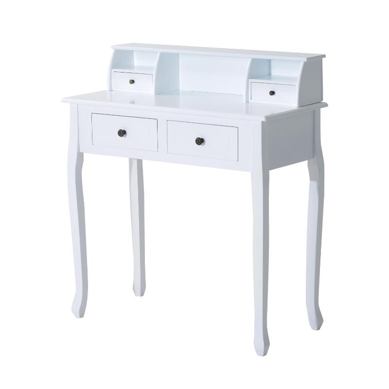 HOMCOM Dressing Table W/4 Drawers-White