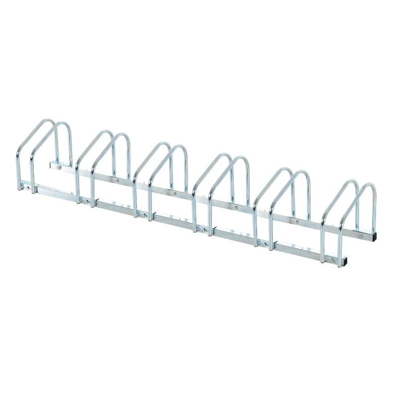 HOMCOM 6-Bike Floor Parking Stand-Silver